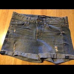 Express Distressed Denim Shorts Size 4